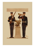Two Marines Wall Decal by Joseph Christian Leyendecker
