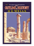 Outline of History by H.G. Wells, No. 7: Ruins Wall Decal