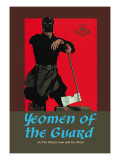 Gilbert & Sullivan: The Yeomen of the Guard (The Executioner) Autocollant mural par Dudley Hardy