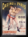 Casino de Paris Championnat de Lutte Framed Giclee Print by  PAL (Jean de Paleologue)