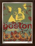 Boston Buddy Limited Edition Framed Print by M.J. Lew