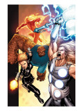Ultimate Secret 4 Cover: Thor, Thing, Human Torch and Black Widow Art by MCNiven Steve