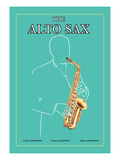 The Alto Sax Wall Decal