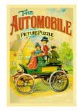 The Automobile-Picture Puzzle Wall Decal