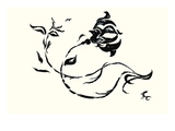 Rose Kiss Wall Decal by Norma Kramer