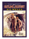 Outline of History by H.G. Wells, No. 2: The Making of Man Wall Decal