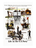 Life in the U.S. Navy, c.1917 Wall Decal by Herbert Meyer