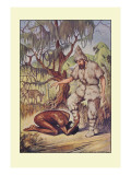Robinson Crusoe: He Lays His Head Flat on the Ground Wall Decal by Milo Winter