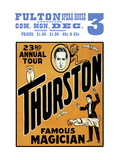 Thurston, Famous Magician 23rd Annual Tour Wall Decal