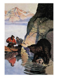 Bear Ambush Wall Decal by Newell Convers Wyeth