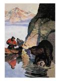 Bear Ambush Wall Decal by Newell Convers Wyeth