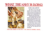 What the Navy is Doing, c.1918 Wall Decal by Joseph Christian Leyendecker
