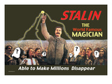 Stalin: The World Famous Magician Wall Decal