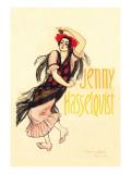 Jenny Hasselquist, c.1920 Autocollant mural par Théophile Alexandre Steinlen