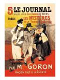 Le Journal: Les Mysteres de la Tour Pointue, c.1899 Autocollant mural par Théophile Alexandre Steinlen