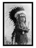 Cheyenne Warrior of the Future Wall Decal by Richard Throssel