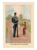 Little Abe's Gift to a Soldier Wall Decal by Harriet Putnam