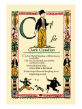 C for Clark Claudius Wall Decal by Tony Sarge