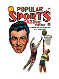 Popular Sports Magazine: Going for the Hoop Wall Decal