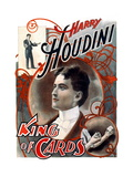 Harry Houdini: King of Cards Wall Decal