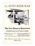 The Auto Beer Bar Wall Decal by Tousey 