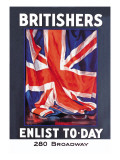 Britishers: Enlist To-Day Wall Decal by Guy Lipscombe