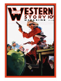 Western Story Magazine: The Card Game Wall Decal