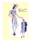 Paisley Dress with Hat, Gloves and Jacket Wall Decal