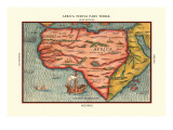 Africa Tertia Pars Terrae Wall Decal by Heinrich Bunting
