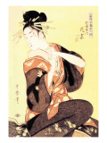 Reigning Beauty: Hanozuma Wall Decal by Kitagawa Utamaro