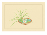 Reed and Pond Lily Wall Decal by Sofu Teshigahara