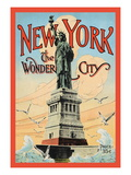 New York, The Wonder City Wall Decal by Irving Underhill