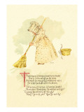 There Was an Old Woman Tossed Up in a Basket Wall Decal by Maud Humphrey