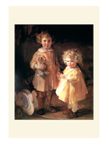 Two Little Sisters Wall Decal by Alice Kent Stoddard