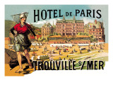 Hotel de Paris: Trouville-sur-Mer, c.1885 Autocollant mural par Théophile Alexandre Steinlen