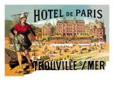 Hotel de Paris: Trouville-sur-Mer, c.1885 Wall Decal by Théophile Alexandre Steinlen