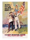 The Navy Needs You Wall Decal by James Montgomery Flagg