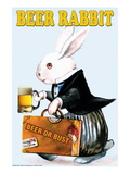 Beer Rabbit Wall Decal