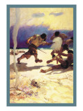 Cannibals Wall Decal by Newell Convers Wyeth
