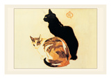 Les Chats Autocollant mural par Théophile Alexandre Steinlen