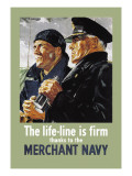 Life-Line is Firm, Thanks to the Merchant Navy Wallstickers