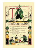 T for Treasure Island Wall Decal by Tony Sarge