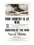 Your Country is at War, c.1917 Wall Decal by Frank Paulus
