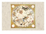 South Celestial Planisphere Wall Decal by Augustin Rythen
