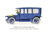 Exterior View of Limousine Ambulance Wall Decal
