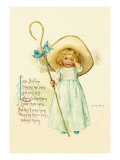 Little Bo Peep Wall Decal by Maud Humphrey