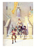 Wallace and the Children Wall Decal by Newell Convers Wyeth