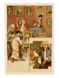 School for Scandal: Portrait Gallery Wall Decal by Lucius Rossi