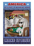 America Dserves a Winning Hand, Make It Blue Wall Decal by Richard Kelly