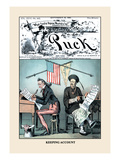 Puck Magazine: Keeping Account Wall Decal by Frederick Burr Opper